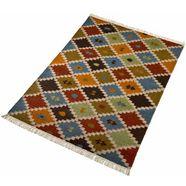 wollen kleed, »kite«, home affaire collection, rechthoekig, hoogte 5 mm, met de hand geweven multicolor