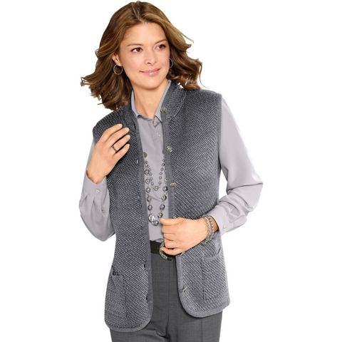 Classic NU 15% KORTING: Classic mouwloos vest met parelvangmotief