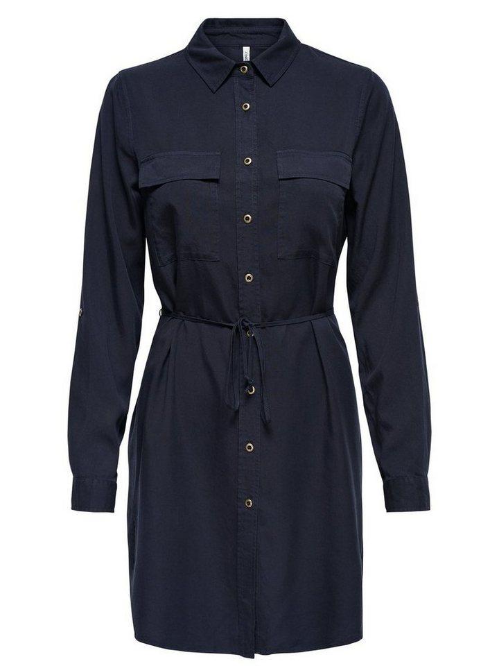 ONLY Gedetailleerde jurk met lange mouwen grijs