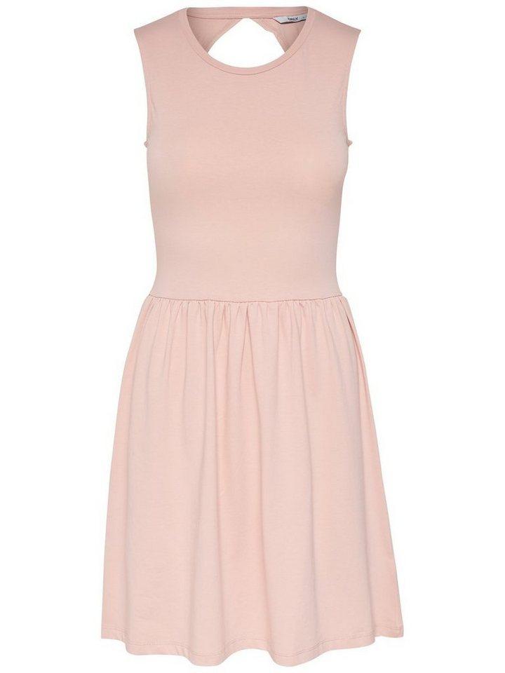 ONLY Solid Mouwloze jurk roze