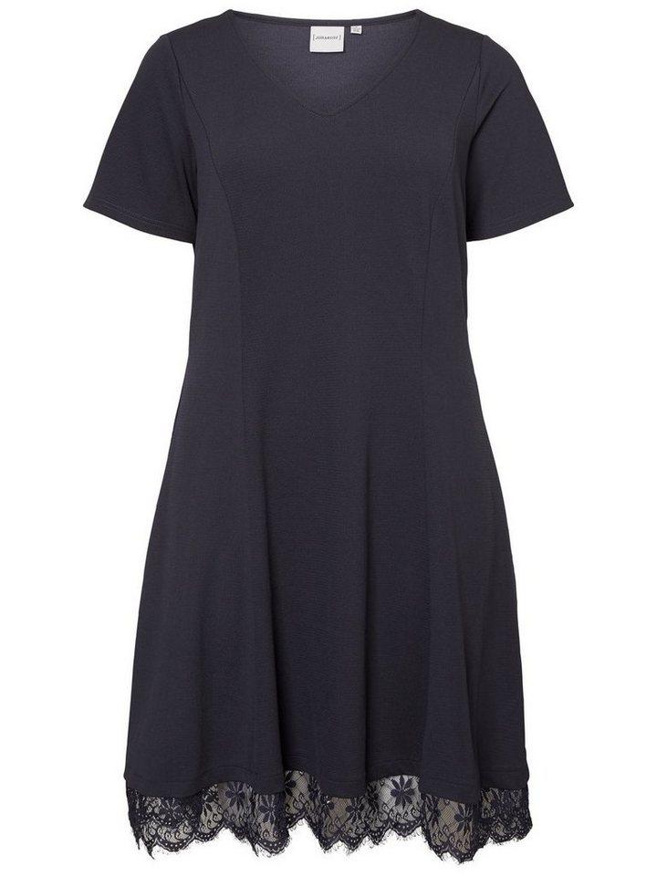 Junarose kanten jurk blauw