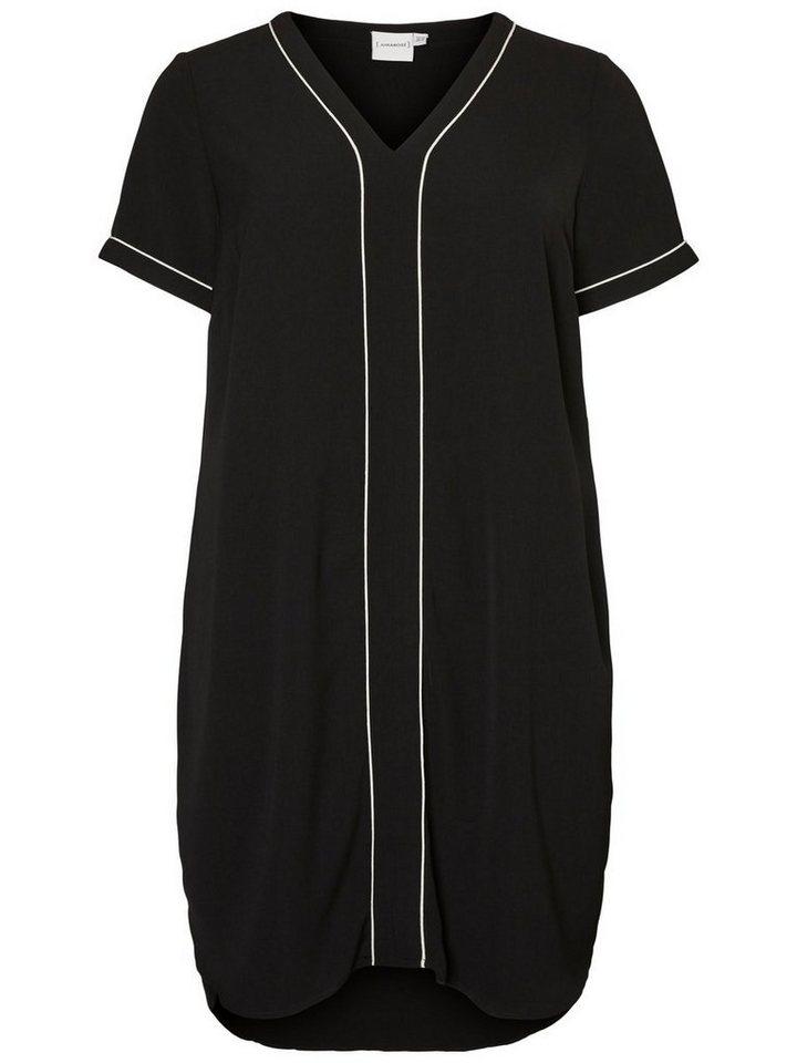 Junarose Korte mouw jurk zwart