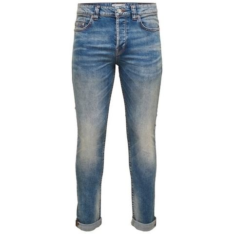 ONLY & SONS Loom lichtblauwe Slim fit jeans