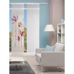 vision s paneelgordijn digitale print bamboe-look 'kukat' digitale print - naar wens in te korten (1 stuk) beige