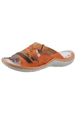 krisbut slippers met klittenbandsluiting oranje