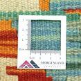 morgenland wollen kleed kelim afghan teppich handgewebt gruen laagpolig groen