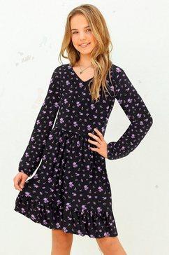 arizona jerseyjurk met leuke bloemenprint zwart