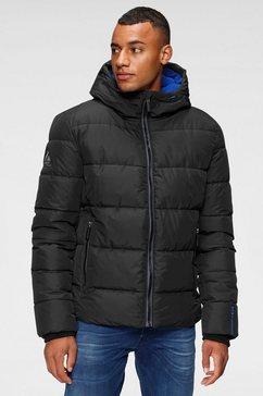 superdry gewatteerde jas sports puffer zwart