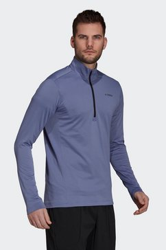 adidas terrex fleecetrui multi 1-2 fleece foundation primegreen regular mens blauw
