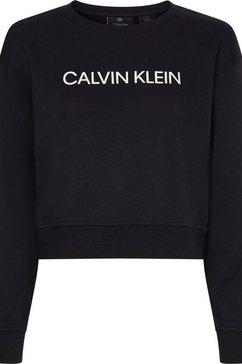 calvin klein performance sweatshirt pw - pullover met calvin klein-logo-opschrift zwart