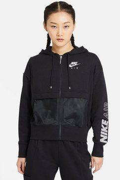 nike sweatvest »nike air women's full-zip top« zwart