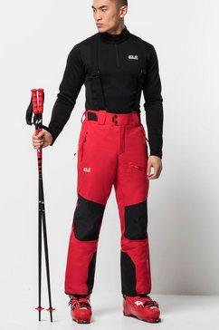 jack wolfskin skibroek »snow summit pants m« rood