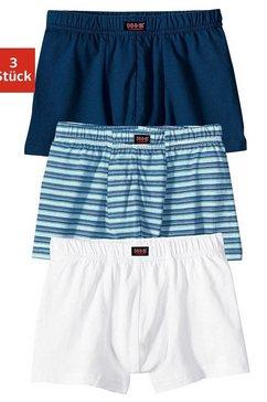 h.i.s boxershort voor jongens coole uni-strepenmix (3 stuks) blauw