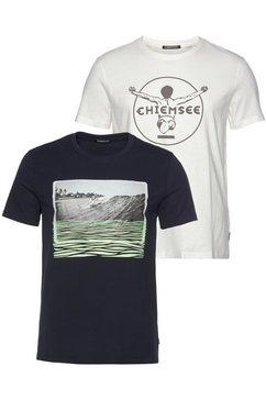 chiemsee t-shirt (2-delig, set van 2) blauw