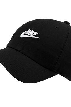 nike baseballcap »nike sportswear heritage86 futura washed hat« zwart