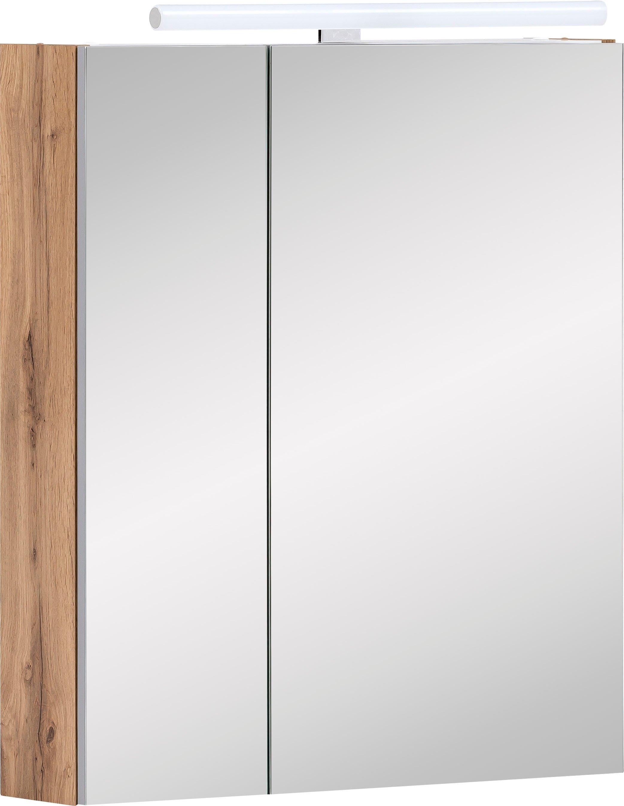 Schildmeyer spiegelkast Duo Breedte 60 cm, 2-deurs, ledverlichting, schakelaar-/stekkerdoos, glasplateaus, soft-closetechniek, Made in Germany voordelig en veilig online kopen