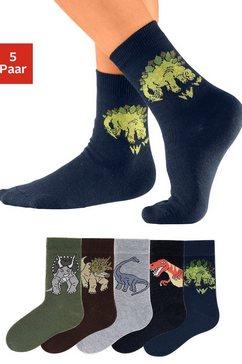 go in sokken met dinosaurusmotieven (5 paar) multicolor
