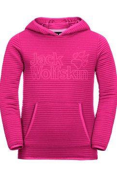 jack wolfskin capuchontrui modesto hoody kids roze