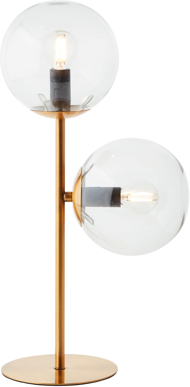 Guido Maria Kretschmer Home&Living tafellamp Arlberg bronskleur, rookglas, e14, h: 45 cm nu online bestellen