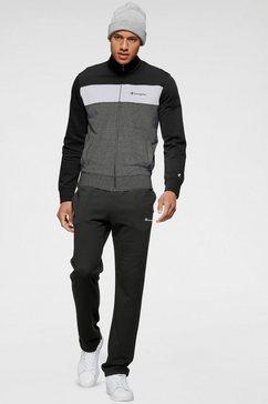 champion joggingpak full zip suit (set, 2-delig) zwart