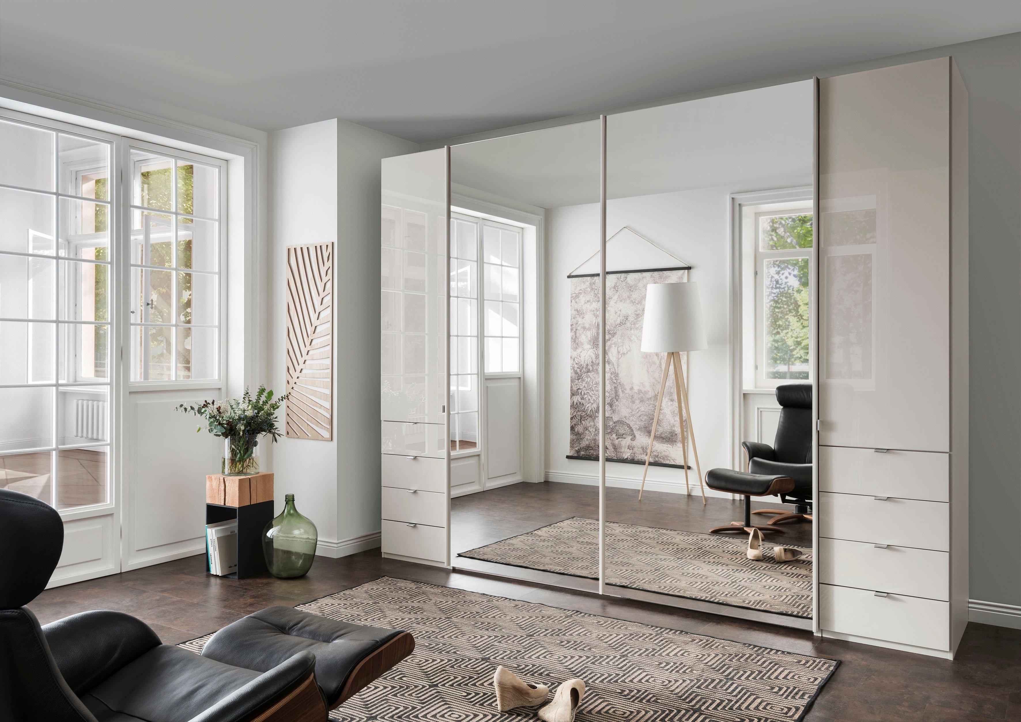 WIEMANN Draai-/zweefdeurkast Nizza met glazen front en spiegel online kopen op otto.nl