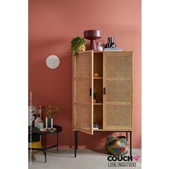 couch ♥ highboard fijne vlechtwerk couch favorieten, front met weens vlechtwerk beige