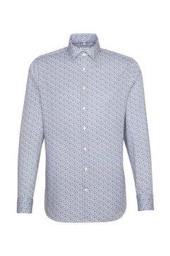 seidensticker businessoverhemd shaped shaped lange mouwen kentkraag print blauw