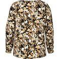 zizzi klassieke blouse met goudkleurige knopen bruin