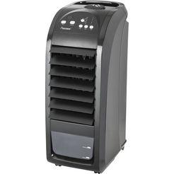 bestron luchtkoeler mobiele apparaat met afstandsbediening, continugebruik van max. 20 uur, 70 w, zwart zwart