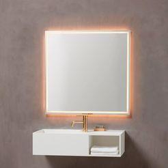 loevschall led-lichtspiegel rimini zilver