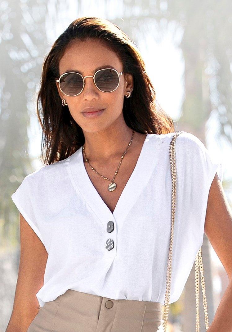 Lascana blouse zonder sluiting met modieuze knopen online kopen op otto.nl