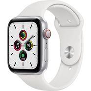 apple watch se gps + cellular, aluminium kast met sportbandje 44 mm inclusief oplaadstation (magnetische oplaadkabel) wit