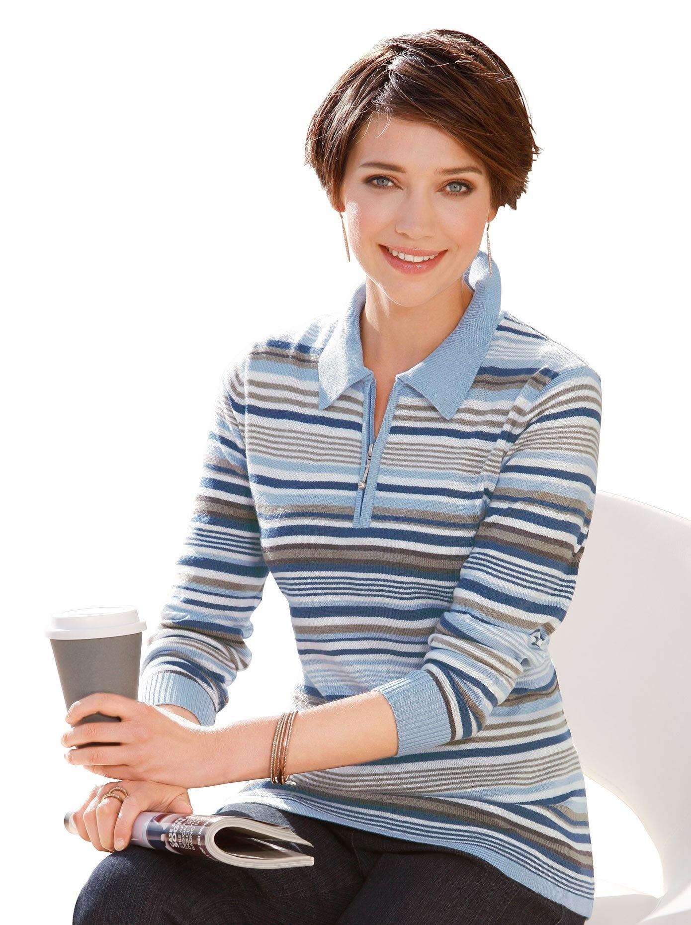 Casual Looks trui met een polokraag nu online kopen bij OTTO
