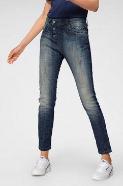 please jeans boyfriendjeans p 78a in heavy-used look blauw