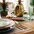 creatable combi-servies ibiza met tropisch decor (set, 16 delig) groen