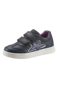geox kids sneakers j djrock girl met een dubbele klittenbandsluiting blauw