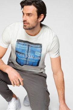 tom tailor shirt met print beige