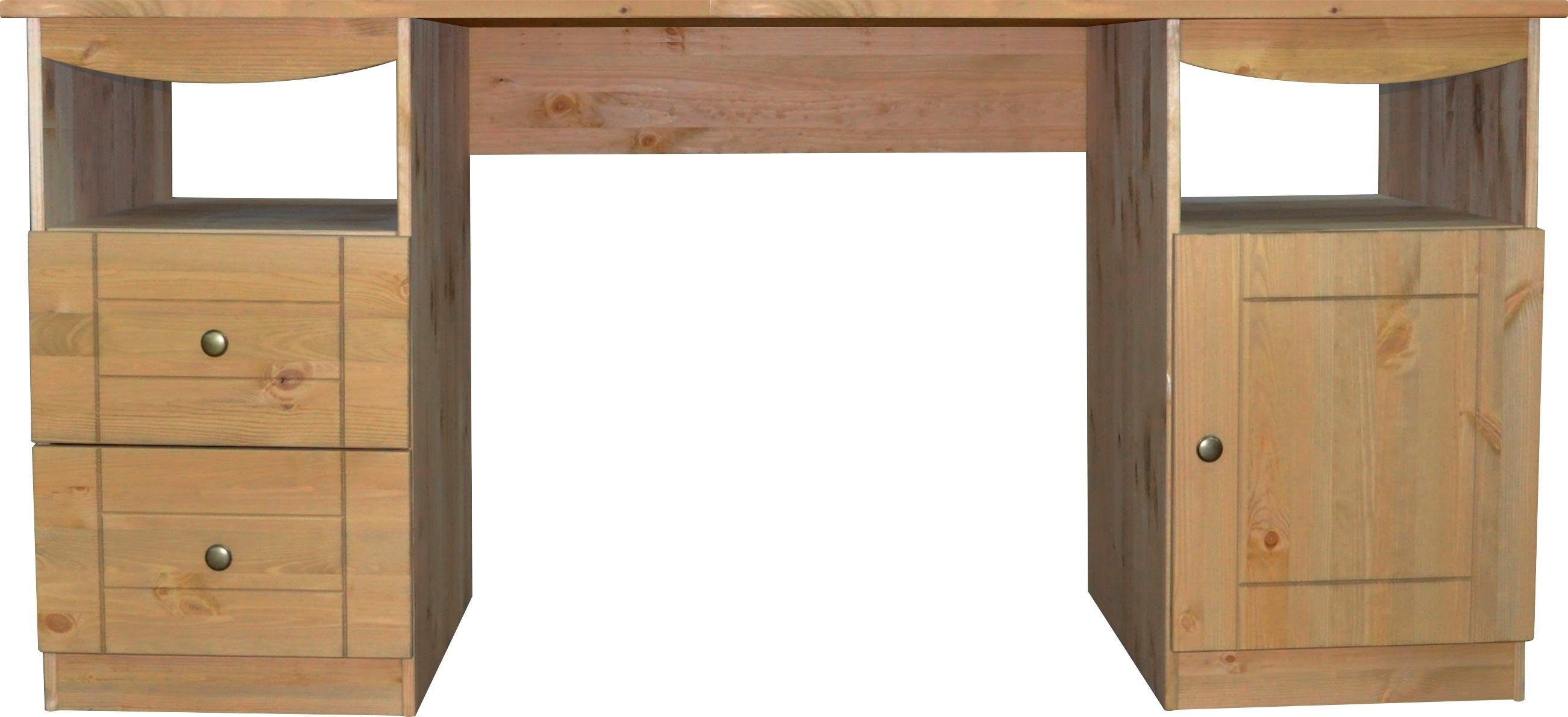 Places of Style Bureau Telde van massief grenen, breedte 140 cm nu online bestellen
