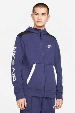 nike sportswear capuchonsweatvest »nike air men's full-zip hoodie« blauw
