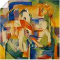 artland artprint olifant, paard, rund. 1914. in vele afmetingen  productsoorten - artprint van aluminium - artprint voor buiten, artprint op linnen, poster, muursticker - wandfolie ook geschikt voor de badkamer (1 stuk) multicolor