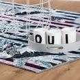 obsession vloerkleed exotic 11m korte pool, modern streepdessin, motief vogels, woonkamer multicolor