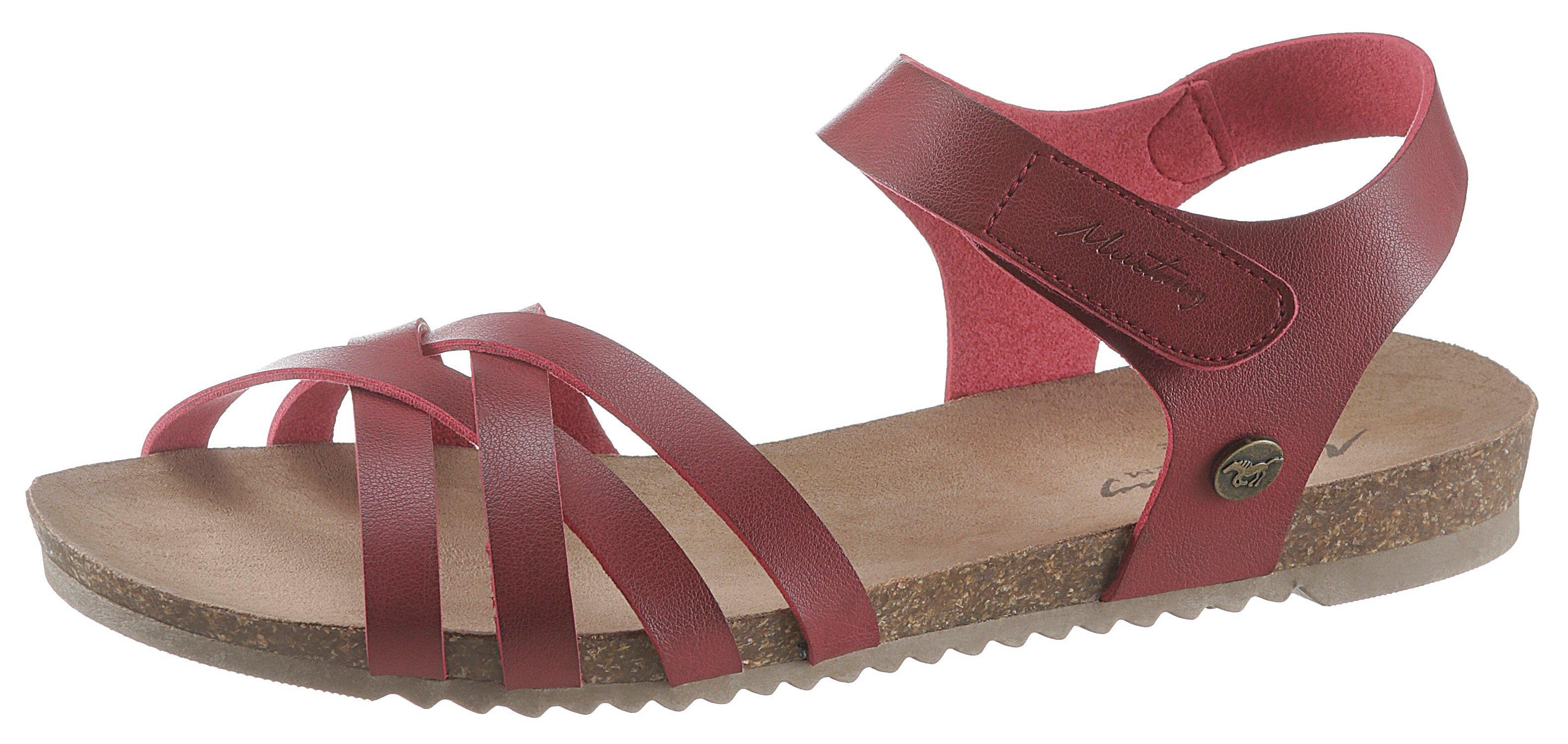 Mustang Shoes sandalen met een gestempeld logo op de stud online kopen op otto.nl