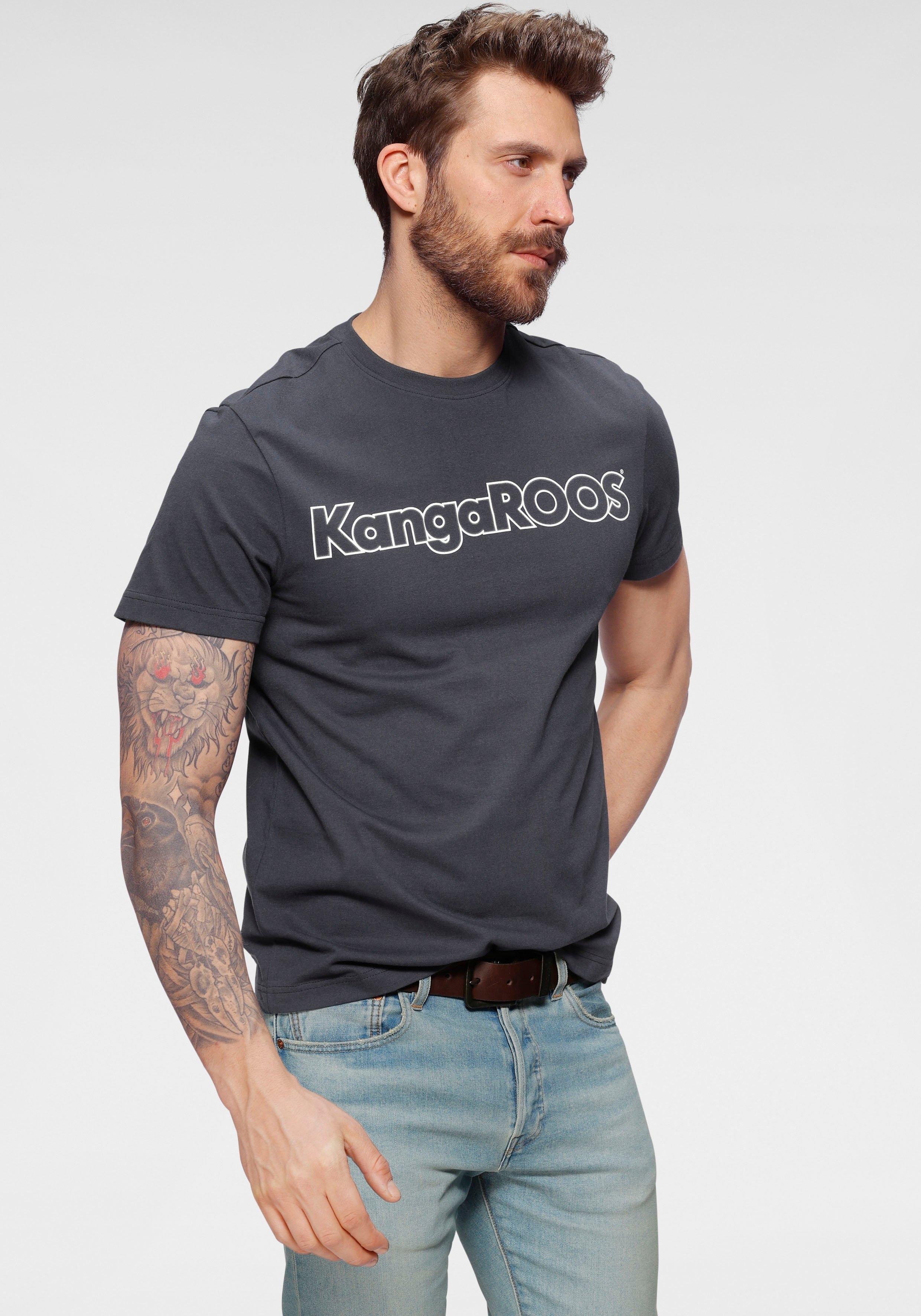 KangaROOS Shirt met ronde hals met logoprint - verschillende betaalmethodes