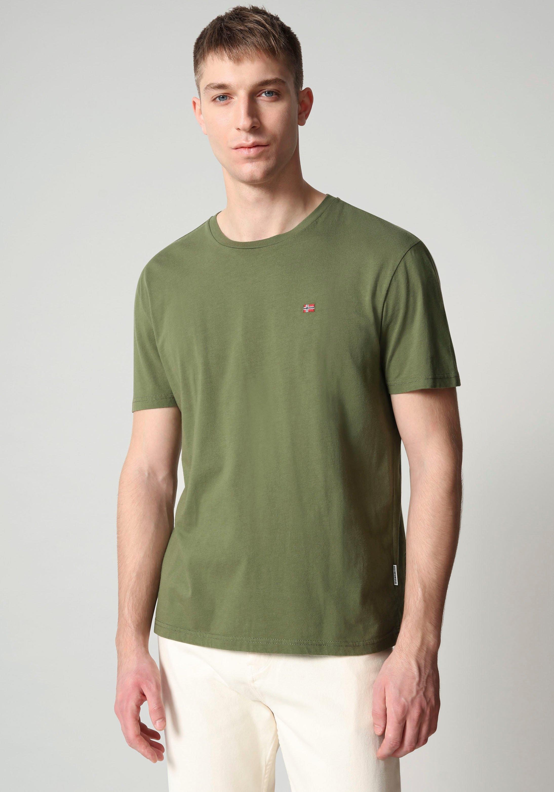 Napapijri T-shirt SALIS met klein vlagborduursel veilig op otto.nl kopen