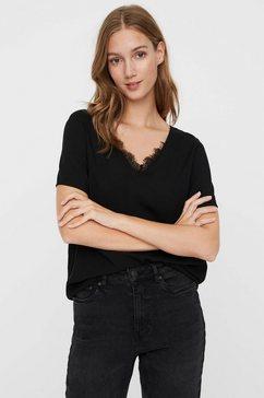 vero moda shirtblouse met kant zwart