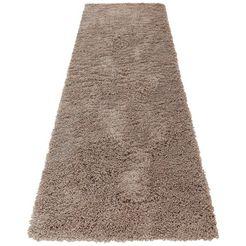 hoogpolige loper, home affaire, »viva«, hoogte 45 mm, geweven bruin