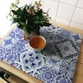 wall-art kookplaatdeksel keuken kookplaatafdekblad portugal (set, 2-delig) blauw