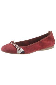 tamaris ballerina's alena met elegante sierapplicatie rood