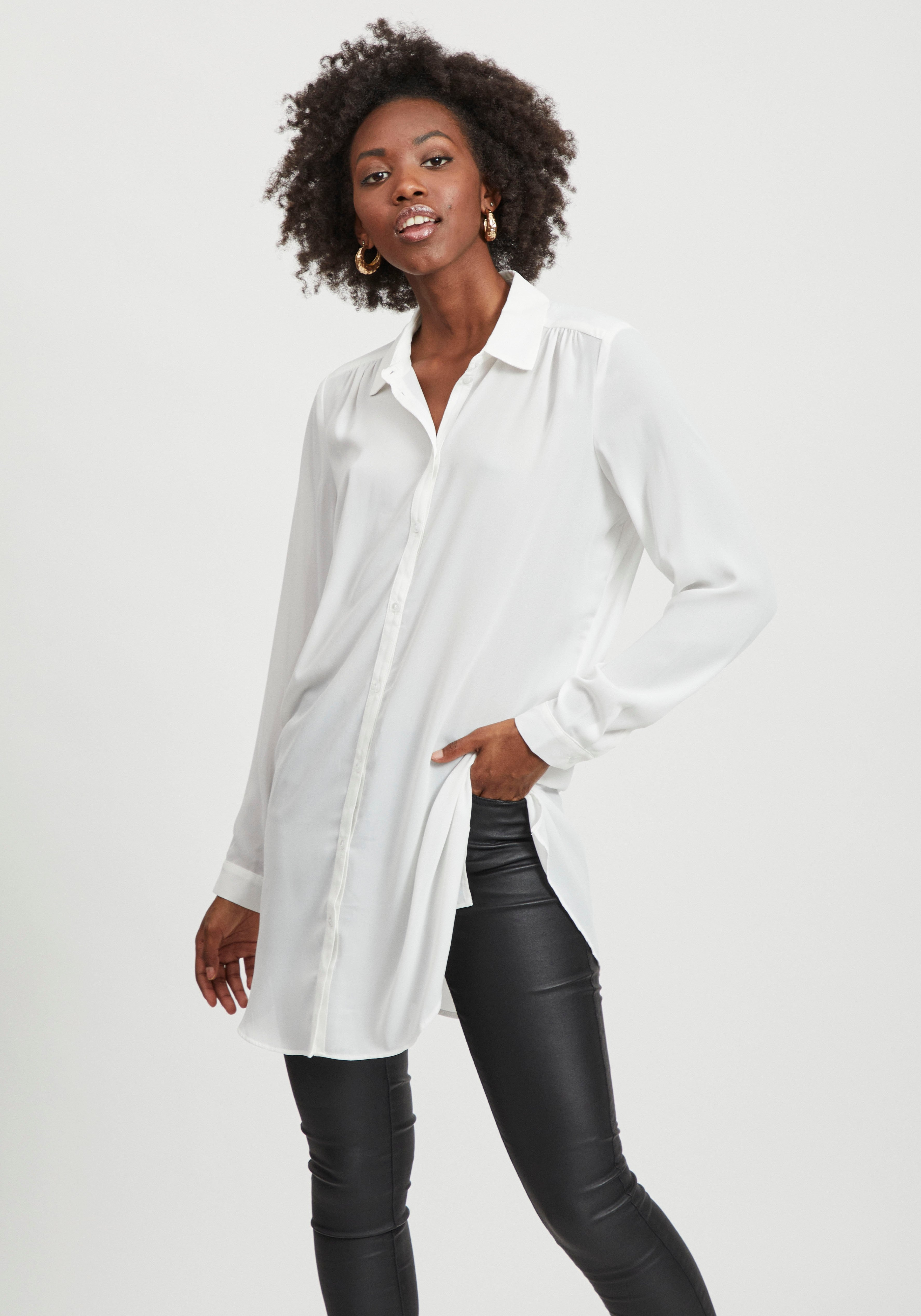 Vila lange blouse VILUCY TUNIC in tunieklengte - gratis ruilen op otto.nl