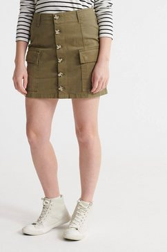 superdry cargorok »alchemy cargo mini skirt« groen